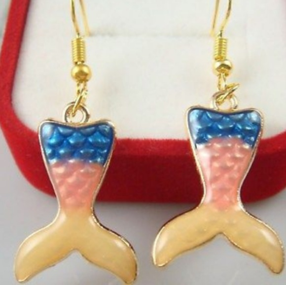 Jewelry - ♥️ Custom made Mermaid Tail Earrings